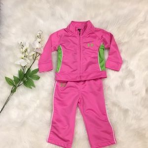 Under Armour Pink & Green Outfit! Size 6-9 mo💕